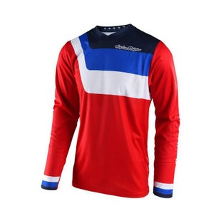 Troy Lee GP Prisma YOUTH Motocross Jersey Motocross Jerseys - Red