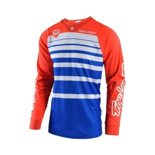 Troy Lee SE Streamline Motocross Jersey Motocross Jerseys - Blue / Orange