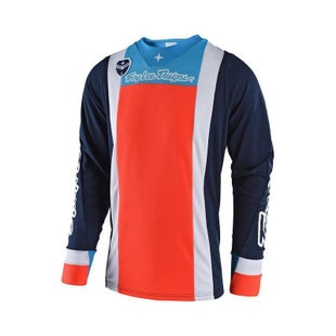 Troy Lee SE Squadra Motocross Jersey Motocross Jerseys - Navy / Orange
