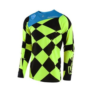 Troy Lee SE Joker Motocross Jersey Motocross Jerseys - Yellow / Black