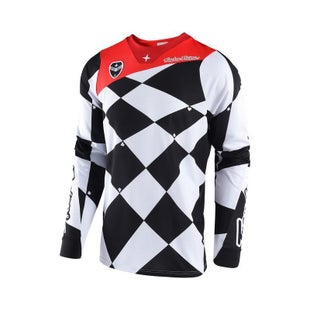 Troy Lee SE Joker Motocross Jersey Motocross Jerseys - White / Black