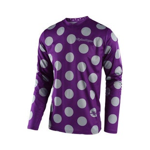 Troy Lee GP Polka Dot Motocross Jersey Motocross Jerseys - Purple / Grey