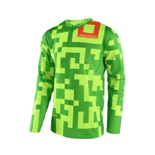 Troy Lee GP Maze Motocross Jersey Motocross Jerseys - Fluo Yellow / Green