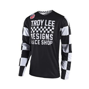 Troy Lee GP Checker Motocross Jersey Motocross Jerseys - Black