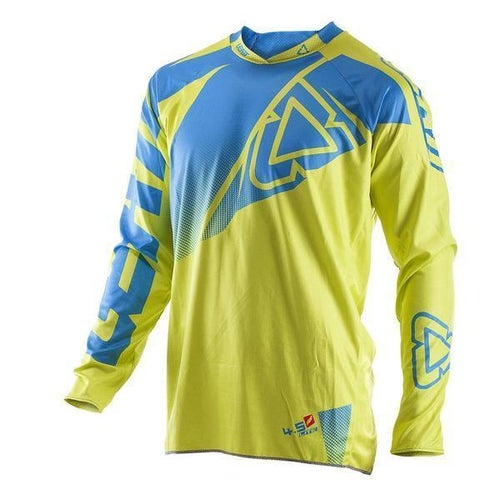 Leatt GPX 4.5 Lite Motocross Jerseys - Lime / Blue