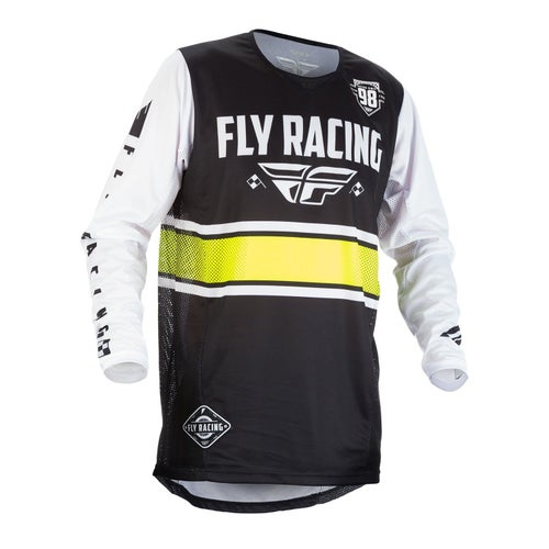 Fly Kinetic Era YOUTH MX Boys Motocross Jerseys - Black / White