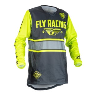 Fly Kinetic Era YOUTH MX Grey Hi Motocross Jerseys - Viz