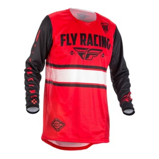 Fly Kinetic Era YOUTH Motocross Jerseys - Red / Black