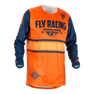 Fly Kinetic Era MX Motocross Jerseys - Orange / Navy