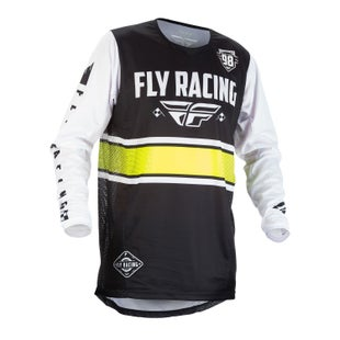 Fly Kinetic Era MX Motocross Jerseys - Black / White