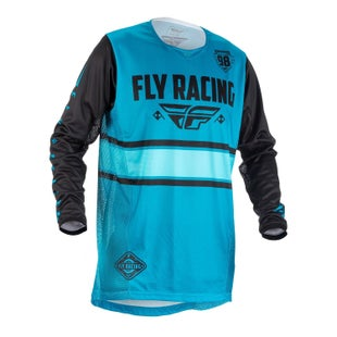 Fly Kinetic Era MX Motocross Jerseys - Blue / Black