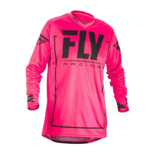 Fly Lite Hydrogen MX Motocross Jerseys - Pink / Black