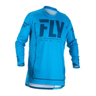 Fly Lite Hydrogen MX Motocross Jerseys - Blue / Navy