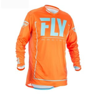 Fly Lite Hydrogen MX Motocross Jerseys - Orange / Blue