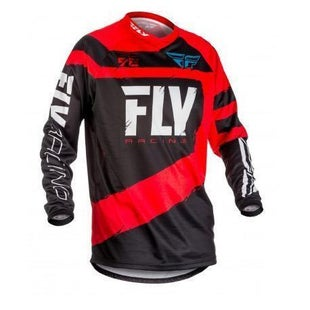 Fly F16 YOUTH MX Motocross Jersey Boys Motocross Jerseys - Red / Black