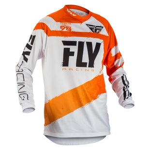 Fly F16 YOUTH MX Motocross Jersey Motocross Jerseys - Orange / White
