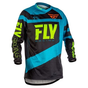 Fly F16 YOUTH MX Motocross Jersey Motocross Jerseys - Blue / Black