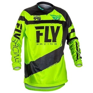 Fly F16 YOUTH MX Motocross Jersey Black Hi Enduro Jersey - Viz