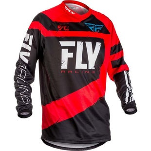 Fly F16 MX Motocross Jerseys - Red / Black