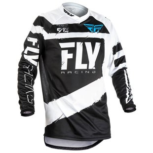 Fly F16 MX Motocross Jerseys - Grey / Black