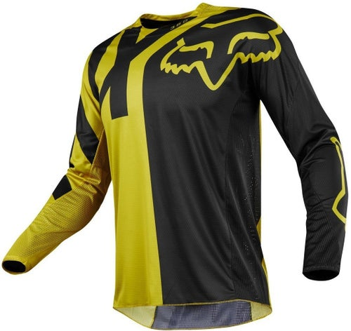Fox Racing 360 Preme Motocross Jerseys - Dark Yellow