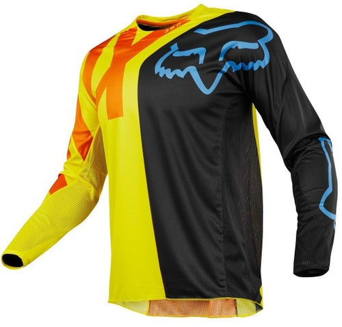 Fox Racing 360 Preme Motocross Jerseys - Black / Yellow