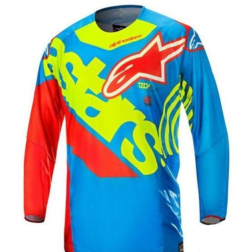 Alpinestars Techstar Venom UNION MX Motocross Jerseys - LE Blue Red Yellow