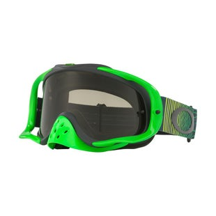 Oakley CrowbarShockwave Green Grey Motocross Goggles - Green Grey ~ Dark Grey Lens