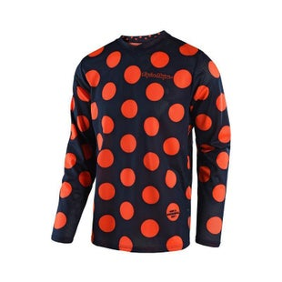 Troy Lee GP AIR Polka Dot YOUTH MX Motocross Jersey Motocross Jerseys - Orange Navy