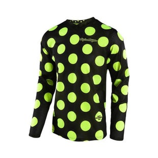 Troy Lee GP AIR Polka Dot YOUTH MX Motocross Jersey Motocross Jerseys - Flou Yellow