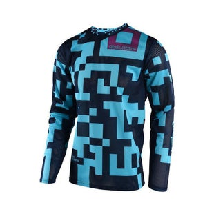 Troy Lee GP AIR Maze MX Motocross Jersey Motocross Jerseys - Turquoise Navy