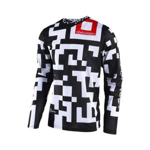 Troy Lee GP AIR Maze MX Motocross Jersey Motocross Jerseys - Black White