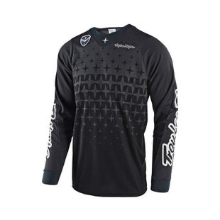 Troy Lee SE AIR Megaburst MX Motocross Jersey Motocross Jerseys - Grey Black