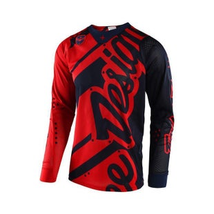 Troy Lee SE AIR Shadow MX Motocross Jersey Motocross Jerseys - Navy Red