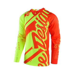 Troy Lee SE AIR Shadow MX Motocross Jersey Motocross Jerseys - Flou Orange Yellow