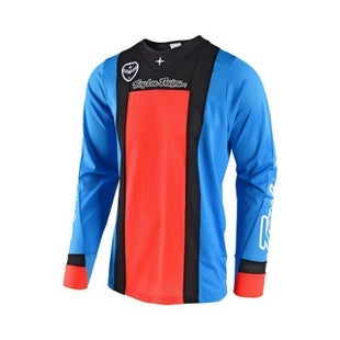 Troy Lee SE AIR Squadra MX Motocross Jersey Motocross Jerseys - Cyan Orange