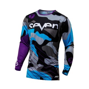 Seven 171 Annex Soldier YOUTH Motocross Jerseys Motocross Jerseys - Purple Camo
