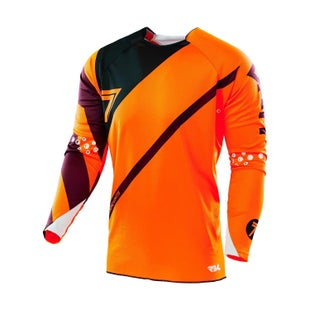 Seven 162 Rival Fuse Motocross Jerseys - Flou Orange / Black