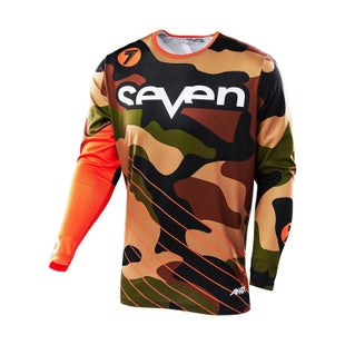 Seven 162 Annex Soldier Motocross Jerseys - Orange Camo