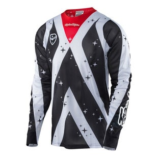 Troy Lee SE AIR Phantom MX Motocross Jersey Motocross Jerseys - White / Black