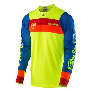 Troy Lee SE AIR Corsa MX Motocross Jersey Motocross Jerseys - Flou Yellow