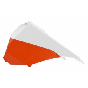 Polisport Plastics Air Filter Box Cover KTM EXCF 125500 14 Airbox Cover - 16 Orange/White OEM 15