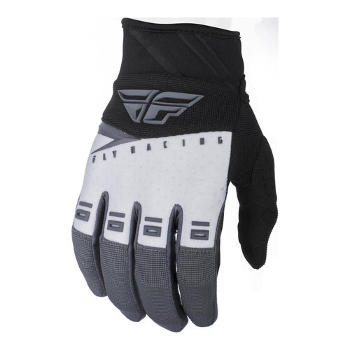 Fly F-16 Gloves Youth Motocross Gloves - Black White Grey