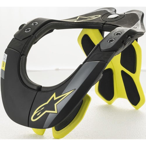 Alpinestars Bns Tech-2 , Neck Brace - Black Yellow Fluo