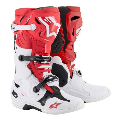 Alpinestars Tech 10 Motocross Boots - Red White Black