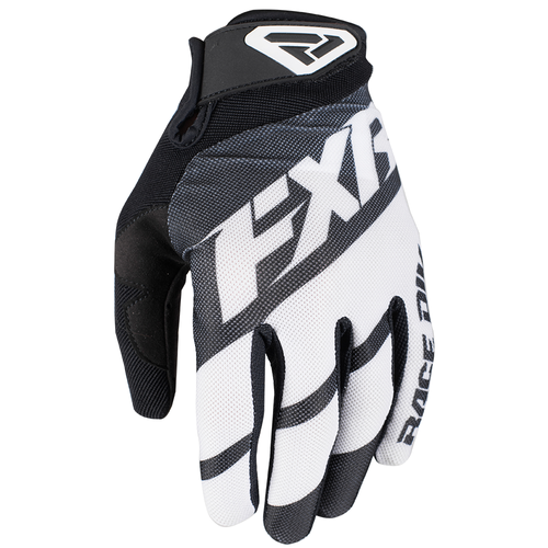 FXR Clutch Strap Motocross Gloves - Black/white
