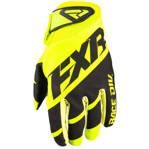 FXR Clutch Strap Motocross Gloves - Hi-vis/black