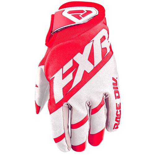 FXR Clutch Strap Motocross Gloves - Red/white