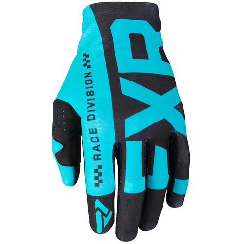 FXR Slip On Lite Motocross Gloves - Black/mint