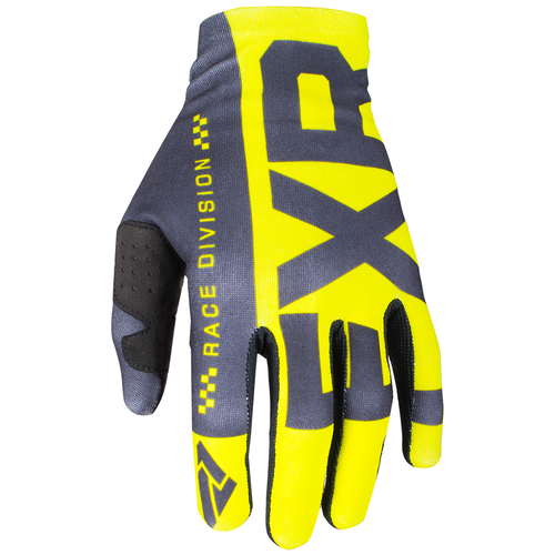FXR Slip On Lite Motocross Gloves - Hi Vis/black